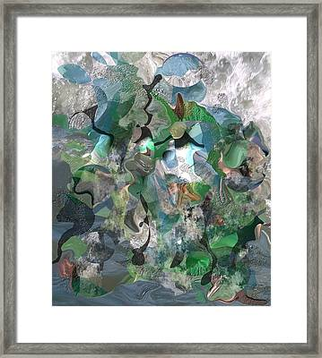 Beach Collage Framed Print by Peter Shor