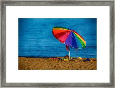 Beach Colors Framed Print by Karol Livote