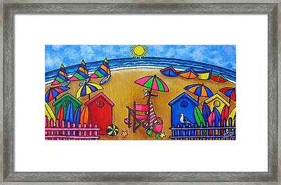 Beach Colours Framed Print by Lisa  Lorenz