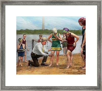 Beach - Cop A Feel 1922 Framed Print by Mike Savad