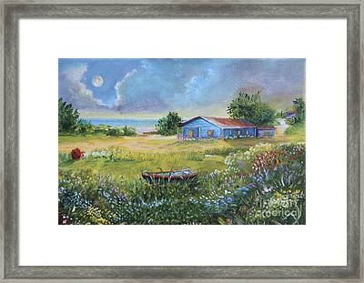 Beach Country House Framed Print