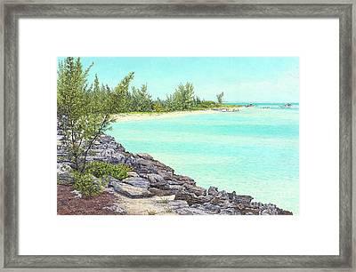 Beach Cove Framed Print