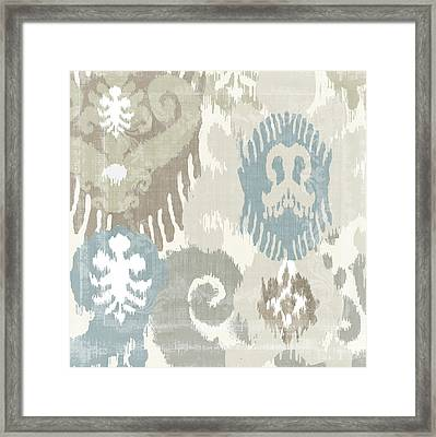 Beach Curry I Ikat Framed Print