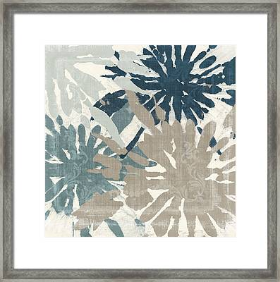 Beach Curry Iv Ikat Framed Print
