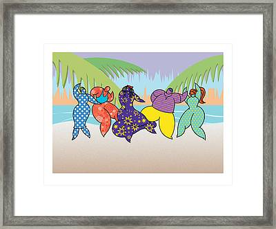 Beach Dancers Framed Print