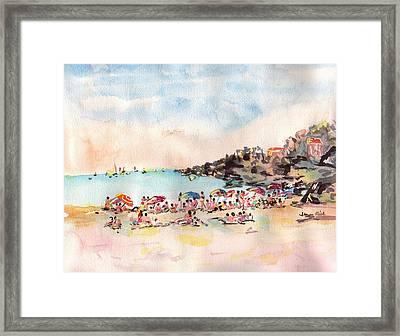 Beach Day At Puerto Vallarta Framed Print