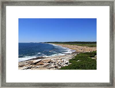 Beach Day Framed Print by Becca Brann