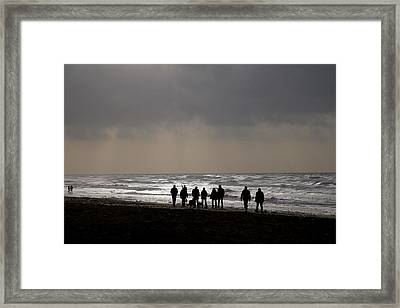 Beach Day Silhouette Framed Print