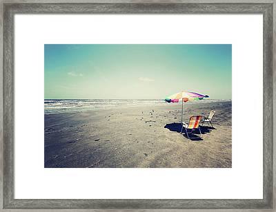 Beach Day Framed Print by Trish Mistric