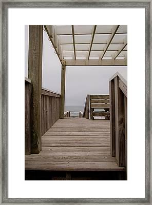 Beach Deck Framed Print by Patrick  Flynn