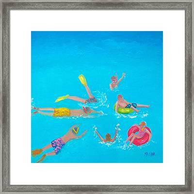 Beach Decor 'holiday Splash' By Jan Matson Framed Print