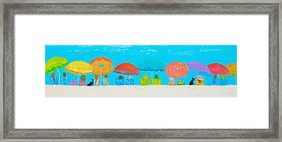 Beach Decor - Umbrellas Panorama Framed Print