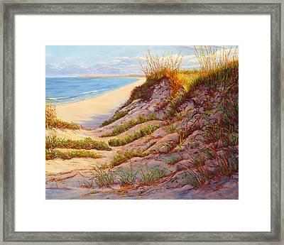 Beach Dune, Atlantic Ocean Beach Framed Print by Elaine Farmer