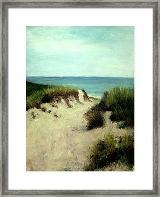 Beach Dunes Framed Print by Cindy Plutnicki