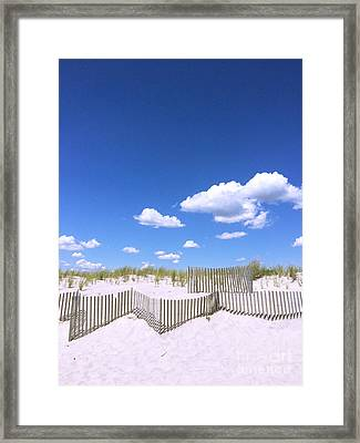 Beach Fence Framed Print by All Island Promos