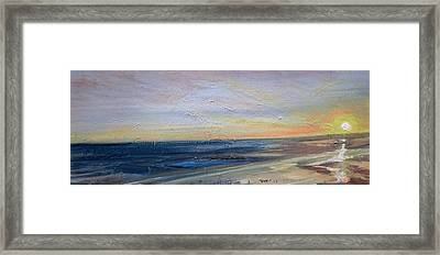 Beach Dusk 1 Framed Print by Paul Mitchell