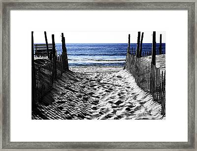 Beach Entry Fusion Framed Print