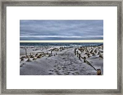 Framed Print featuring the photograph Beach Entry by Paul Ward