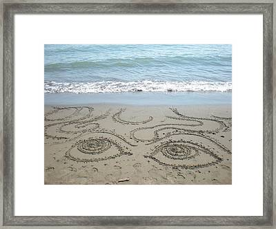Beach Eyes Framed Print by Kim Prowse