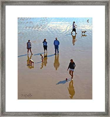 Beach Family Framed Print