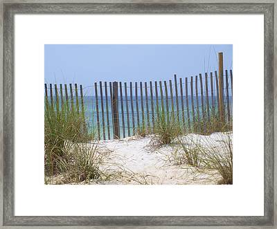 Beach Fence Framed Print by James Granberry