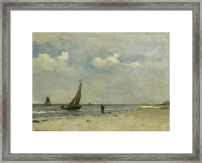 Beach Face Framed Print by Jan Hendrik Weissenbruch