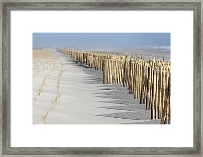 Beach Fence Shirley New York Framed Print by Bob Savage