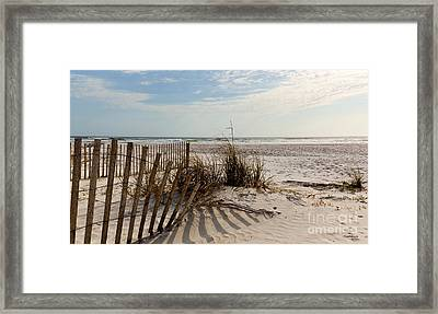 Beach Fence St Augustine Florida Framed Print by Michelle Wiarda