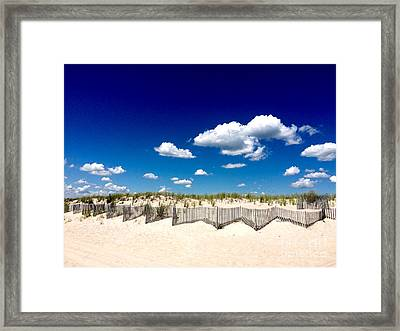 Beach Fence2 Framed Print by All Island Promos