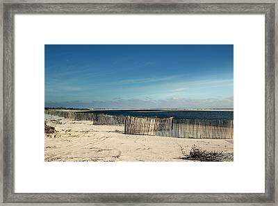 Beach Fences Framed Print by Rosanne Jordan