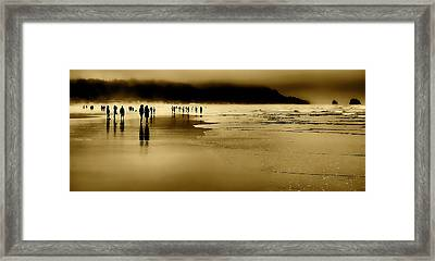 Beach Fog II Framed Print by David Patterson