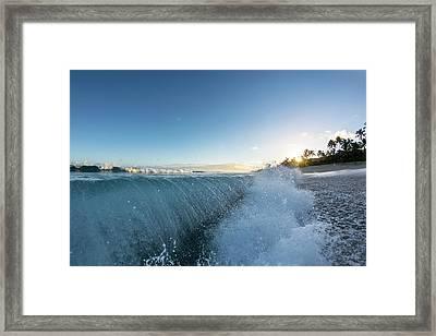 Beach Fold Framed Print