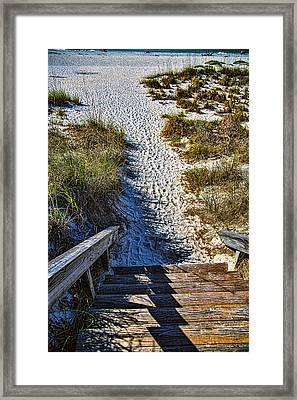 Beach Footprints - Boca Grande Florida Framed Print