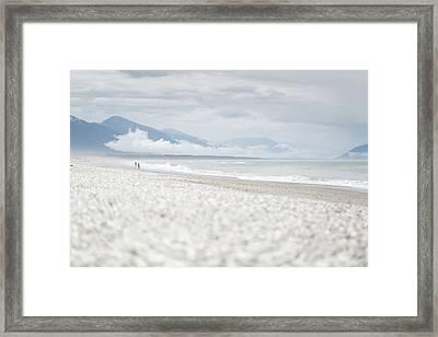 Beach For Two Framed Print