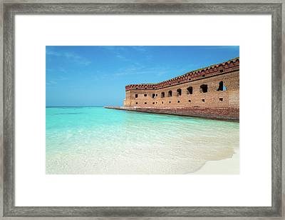 Beach Fort Framed Print by Kristopher Schoenleber