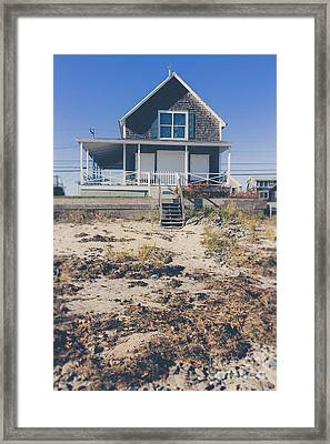 Beach Front Cottage Framed Print
