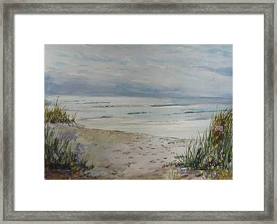Beach Front Framed Print by Dorothy Herron