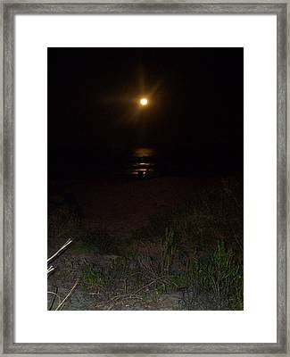 Beach Full Moon Framed Print by Patricia Taylor