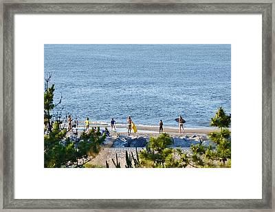 Beach Fun At Cape Henlopen Framed Print