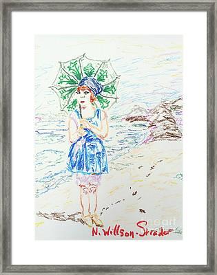 Beach Girl Framed Print by N Willson-Strader