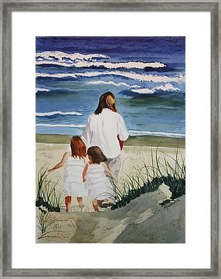 Beach Girls Framed Print