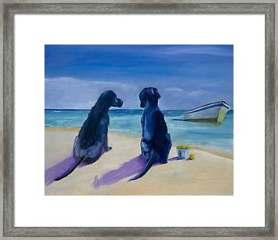 Beach Girls Framed Print by Roger Wedegis