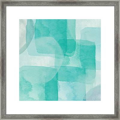 beach glass abstract art by linda woods framed print by linda woods
