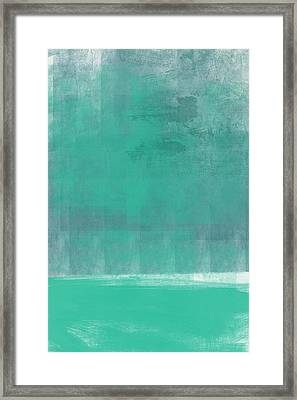 Beach Glass- Abstract Art Framed Print by Linda Woods