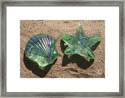 Framed Print featuring the photograph Beach Glass by Cindy Lee Longhini