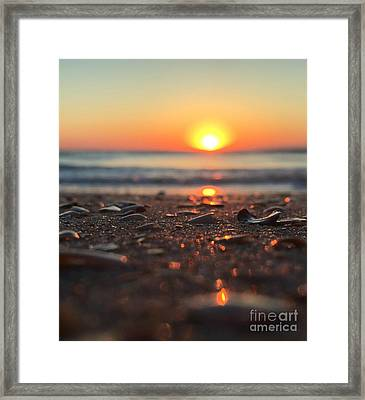 Beach Glow Framed Print
