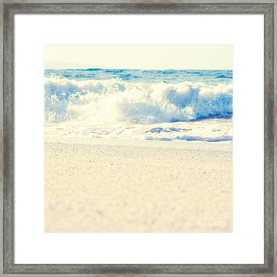 Framed Print featuring the photograph Beach Gold by Sharon Mau