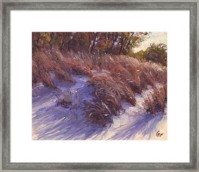 Beach Grass Breeze Framed Print by Michael Camp