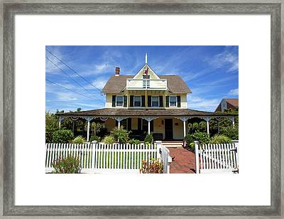 Framed Print featuring the photograph Beach Haven Architecture by John Rizzuto