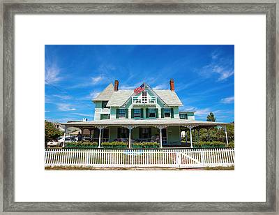 Framed Print featuring the photograph Beach Haven Style by John Rizzuto